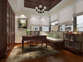 维诗凯亚别 别墅装修 美式风格 别墅设计师 书房图片来自周峻在维诗凯亚400平别墅美式风格设计的分享