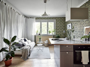 简约 三居 北欧 客厅图片来自言白设计在北欧绿的分享