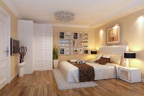 98平装修效 简约 卧室图片来自陕西紫苹果装饰公司在98平现代简约的分享