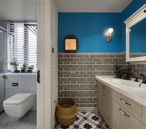 卫生间图片来自家装大管家在美到极致 128平美式简约时尚3居的分享