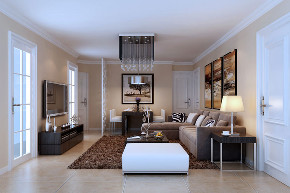 98平装修效 简约 客厅图片来自西安紫苹果装饰工程有限公司在98平现代简约的分享