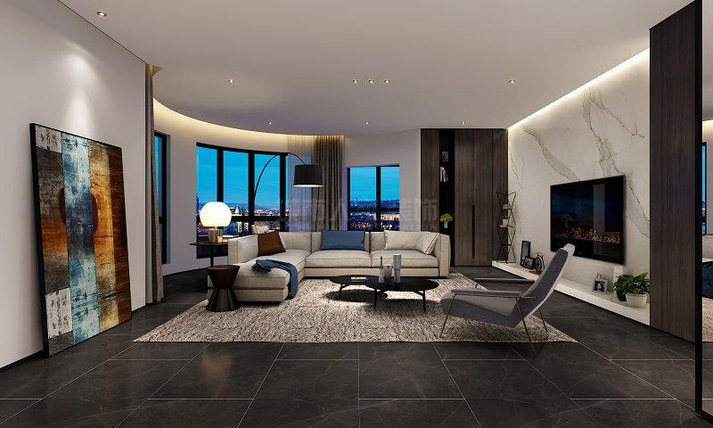 装修 四居 小资 客厅图片来自西安城市人家装饰王凯在248平米港式风格