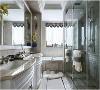 洗手池、浴缸| 洗手池的台面和浴缸的外围都是用大理石所制作的,可以看得出来大理石真的是很受用,地板台面运用绰绰有余。不仅实用,而且上档次。