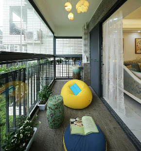 欧式 装修设计 大业美家 阳台图片来自大业美家 家居装饰在中冶德贤138㎡欧式装修设计案例的分享