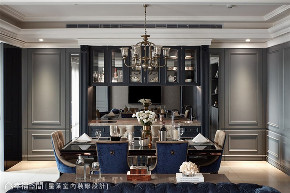 新古典 装修设计 标准格局 餐厅图片来自幸福空间在165平,完美诠释混搭经典的分享
