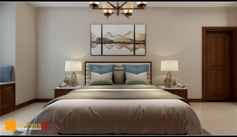 新中式 济南装修 卧室图片来自济南城市人家装修公司-在财富壹号装修新中式风格的分享