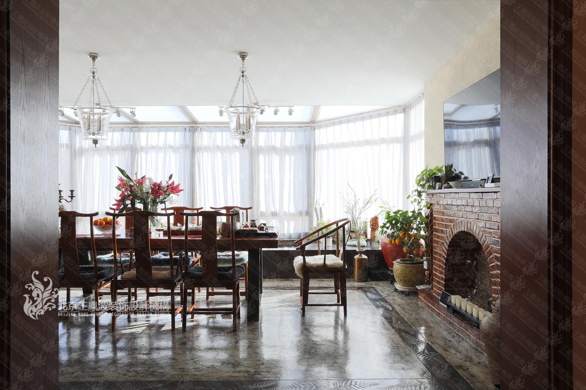 别墅 美式风格 餐厅图片来自王凤波设计机构在春风十里不如你的分享