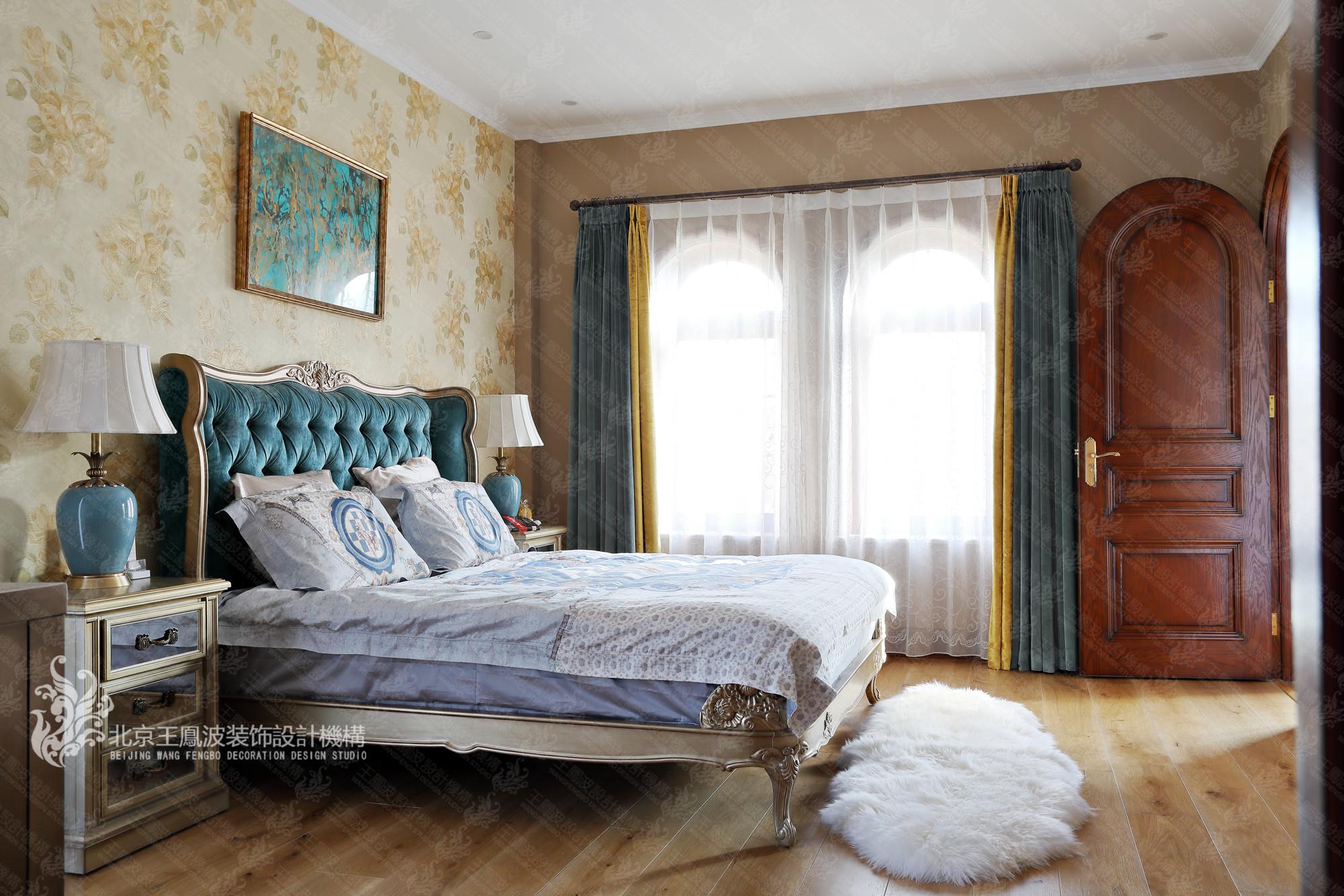 别墅 美式风格 600平米 卧室图片来自王凤波设计机构在春风十里不如你的分享