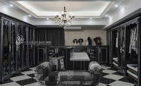 衣帽间图片来自王凤波设计机构在法式风格别墅碧桂园的分享