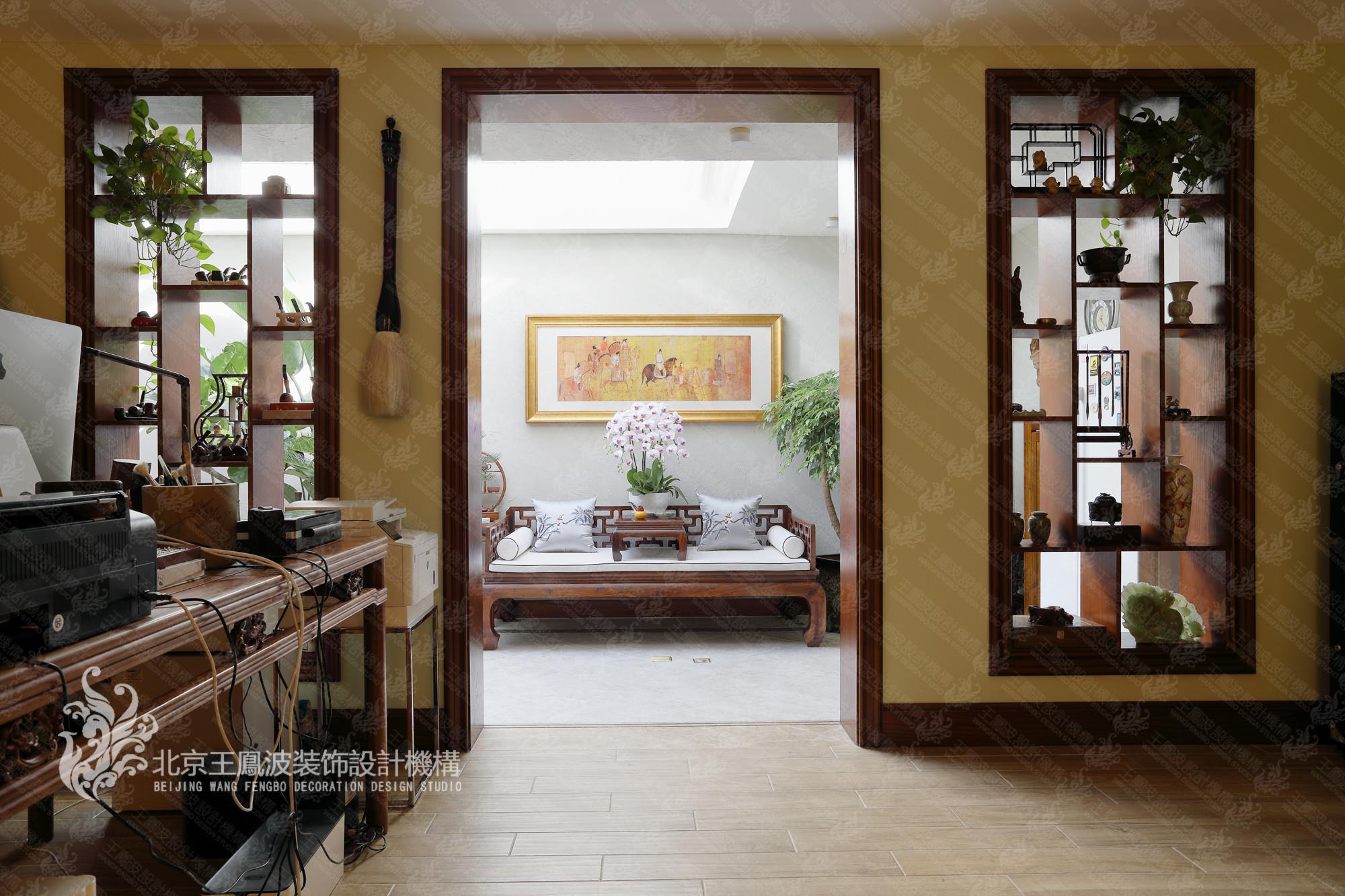 别墅 美式风格 600平米 书房图片来自王凤波设计机构在春风十里不如你的分享