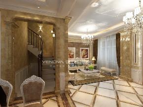 欧式 别墅 白领 80后 小资 暖色系 楼梯图片来自业之峰沈阳公司在简欧风格装修别墅的分享