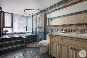 美式 大业美家 装修设计 盛邦大都会 卫生间图片来自大业美家 家居装饰在盛邦大都会 218平米美式装修的分享