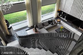 别墅 现代简约 白领 小资 旧房改造 楼梯图片来自幸福空间在如画宅邸 一线蜿蜒串连三代情意的分享