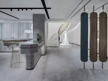 高级灰婚纱店设计,美得如此精致