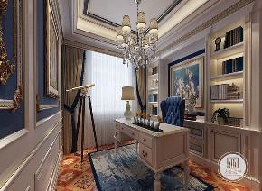 法式 装修效果 宫廷风 五居 书房图片来自大业美家 家居装饰在荣盛华府毓秀宫户型法式风格的分享
