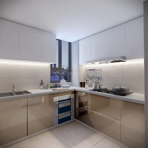 小资 三居 新中式 厨房图片来自观巢国际实景家装在中国玺 147 三室 新中式风格的分享
