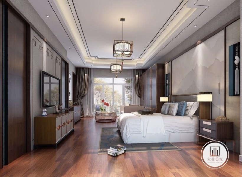 中式 新中式 荣盛华府 卧室图片来自大业美家 家居装饰在荣盛华府凌波仙户型新中式装修的分享