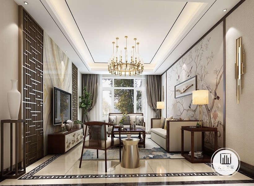 中式 新中式 荣盛华府 餐厅图片来自大业美家 家居装饰在荣盛华府凌波仙户型新中式装修的分享