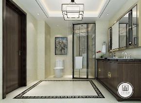 中式 新中式 荣盛华府 卫生间图片来自大业美家 家居装饰在荣盛华府凌波仙户型新中式装修的分享
