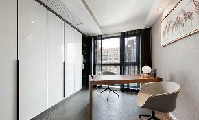 书房图片来自家装大管家在美不胜收 109平现代简约舒适3居的分享