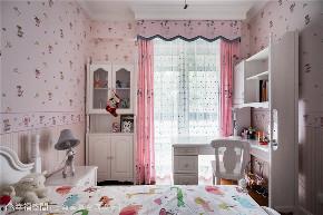 半包 美式 幸贏空间 80后 小资 白领 卧室图片来自幸福空间在162平,轻怀旧 重优雅 微缤纷的分享