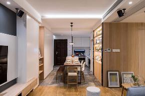 客厅图片来自家装大管家在90平现代北欧居 简简单单的世界的分享