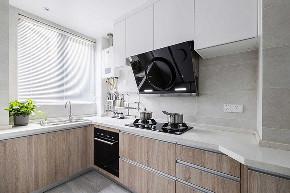 厨房图片来自家装大管家在106平现代淡雅3居 慵懒舒适生活的分享