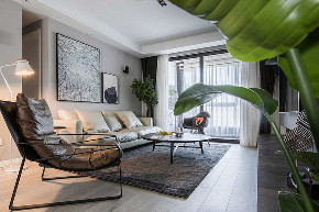 客厅图片来自家装大管家在106平现代淡雅3居 慵懒舒适生活的分享