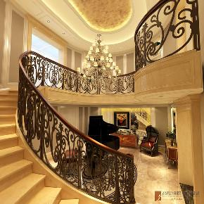 楼梯图片来自北京高度国际在400平米远洋天著春秋新古典风格的分享