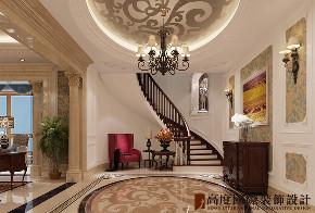 楼梯图片来自北京高度国际在200平米西山御园简约风格的分享