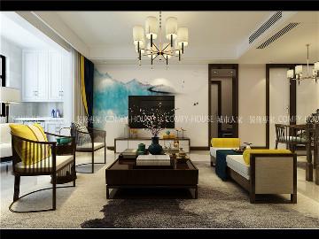 绿地国际城装修五居室简中风格