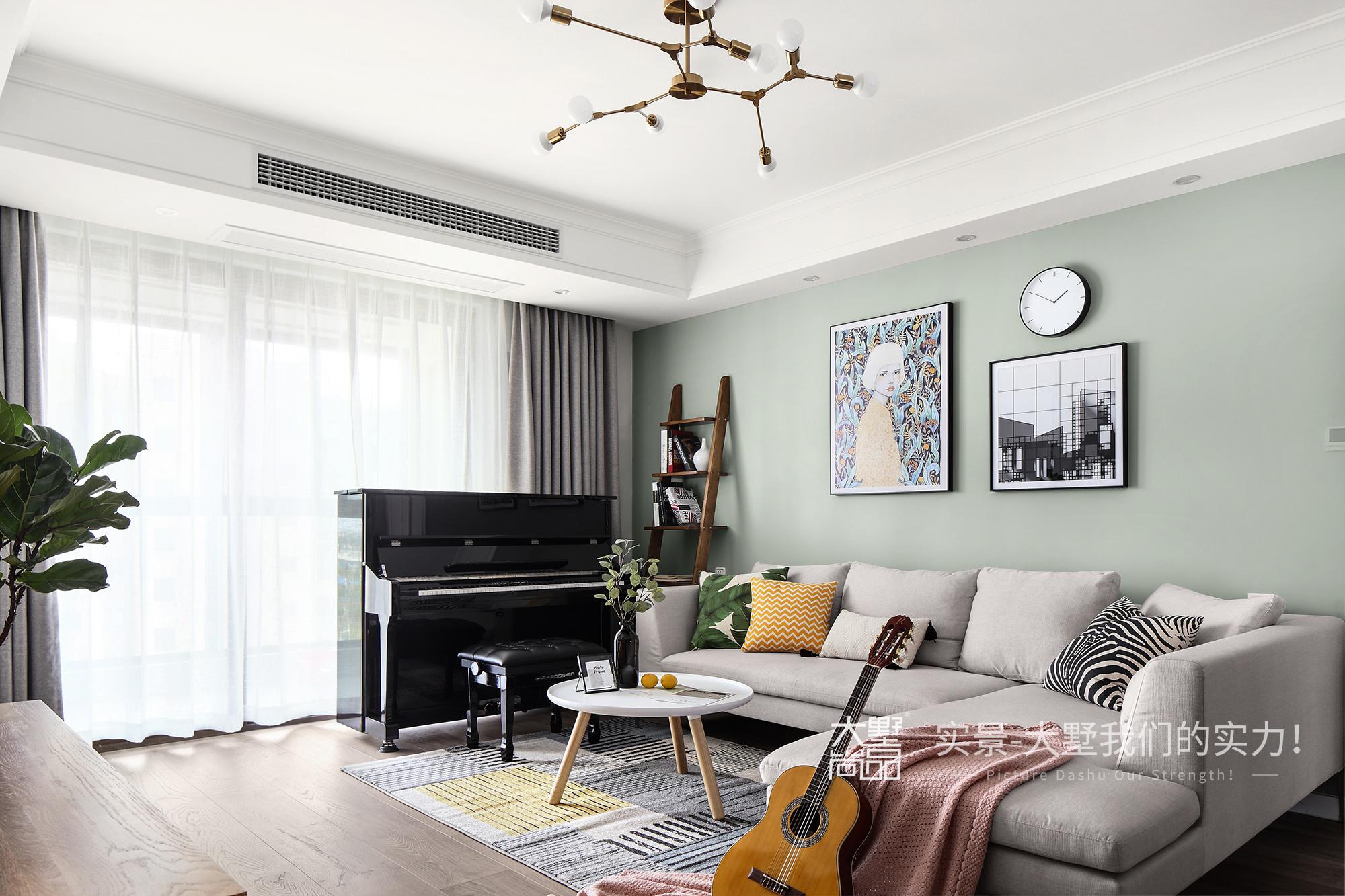 客厅图片来自大墅尚品-由伟壮设计在傲娇女王大人打造125㎡北欧王国的分享