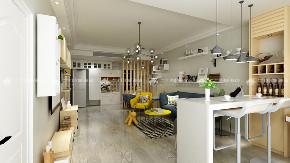 北欧 清新 文艺 二居 白领 收纳 旧房改造 小资 90后 客厅图片来自昆明二十四城装饰集团在团山欣城 北欧的分享