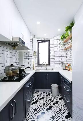 厨房图片来自鹏友百年装饰在89平温馨简约浪漫的北欧风的分享