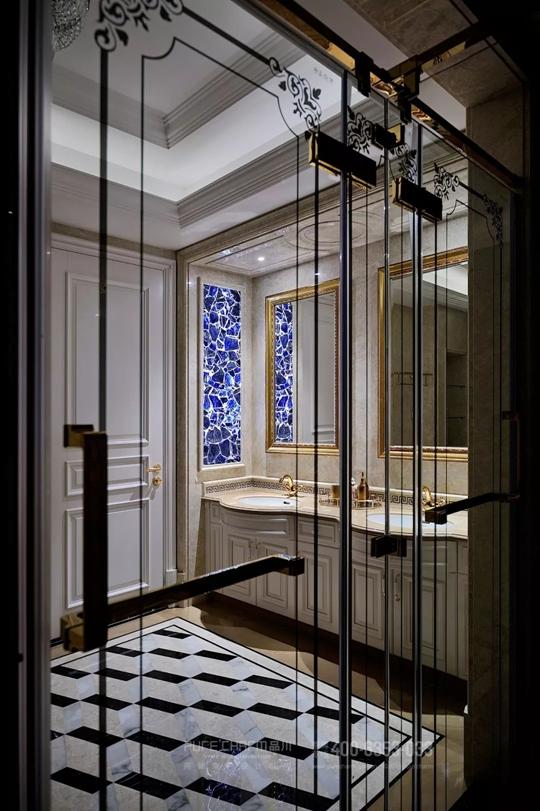 卫生间图片来自品川室内设计在品川设计丨奢宅、气度的分享