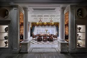 其他图片来自品川室内设计在品川设计丨奢宅、气度的分享