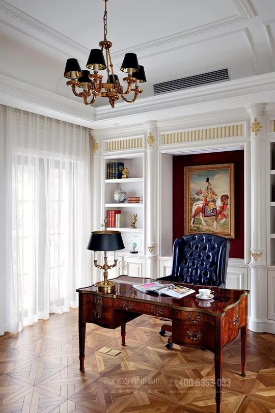 书房图片来自品川室内设计在品川设计丨奢宅、气度的分享