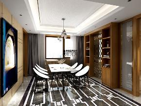 别墅 现代 简约 四居 餐厅图片来自申远空间设计北京分公司在恒大华府的分享