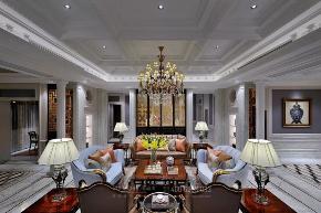 客厅图片来自品川室内设计在品川设计丨奢宅、气度的分享