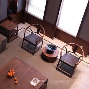 客厅图片来自品川室内设计在以风雅为骨的顶豪人文大宅的分享