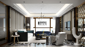 别墅 现代 简约 四居 客厅图片来自申远空间设计北京分公司在恒大华府的分享