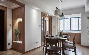 餐厅图片来自家装大管家在钟爱木质 120平日式混搭时尚3居的分享