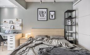 卧室图片来自家装大管家在清新明亮 95平现代北欧时尚空间的分享