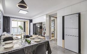 餐厅图片来自家装大管家在清新明亮 95平现代北欧时尚空间的分享