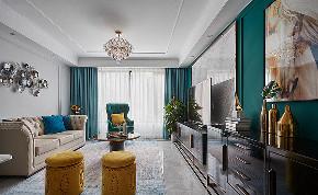 客厅图片来自家装大管家在温馨时尚 120平美式轻奢摩登3居的分享