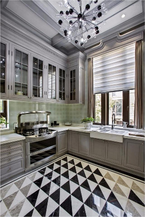 别墅 别墅装修 英伦风 别墅设计 厨房图片来自申远空间设计北京分公司在京兆府-英伦时尚的别墅装修的分享