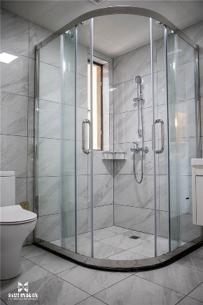 现代 新思路装饰 三居 白领 卫生间隔断 卫生间图片来自重庆新思路装饰在万科金域学府(现代简约)的分享