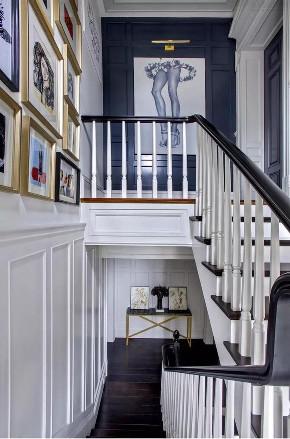别墅 别墅装修 英伦风 别墅设计 楼梯图片来自申远空间设计北京分公司在京兆府-英伦时尚的别墅装修的分享
