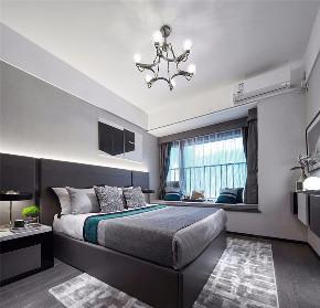 现代 基装 全包 鹏友百年 私人订制 全案设计 卧室图片来自鹏友百年装饰在自带优雅静谧的气质的分享