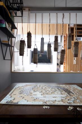 久栖设计 紫御国际 复式 北欧 日式 室内设计 储物收纳 收纳 餐厅图片来自久栖设计在久栖作品紫御长安丨魔方小复式的分享